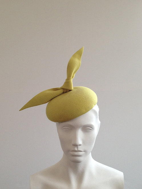 Dr Bunsen - Chartreuse (yellow/green) Bow Beret