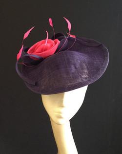 Purple & Cerise Saucer
