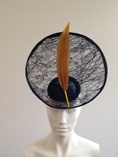 Gonzo - Large Navy & Gold Saucer Hat