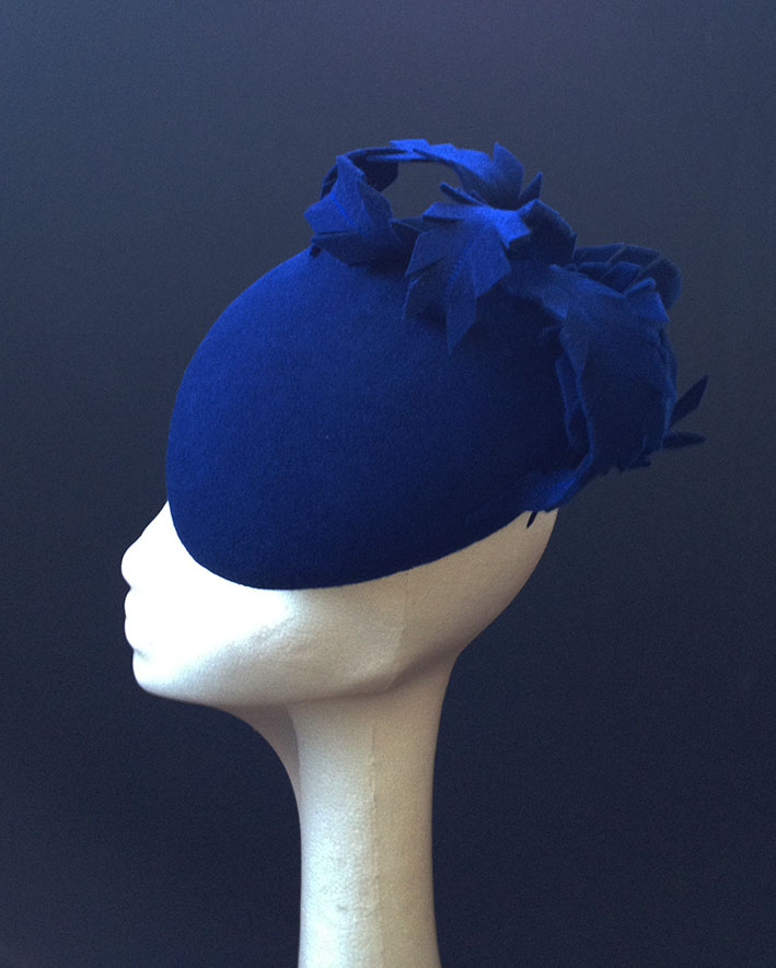 Royal Blue Feather Beret