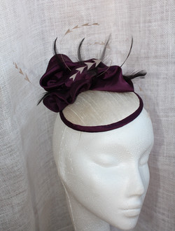 Cream & Purple Button