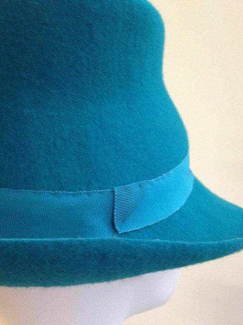 Turquoise Felt Trilby