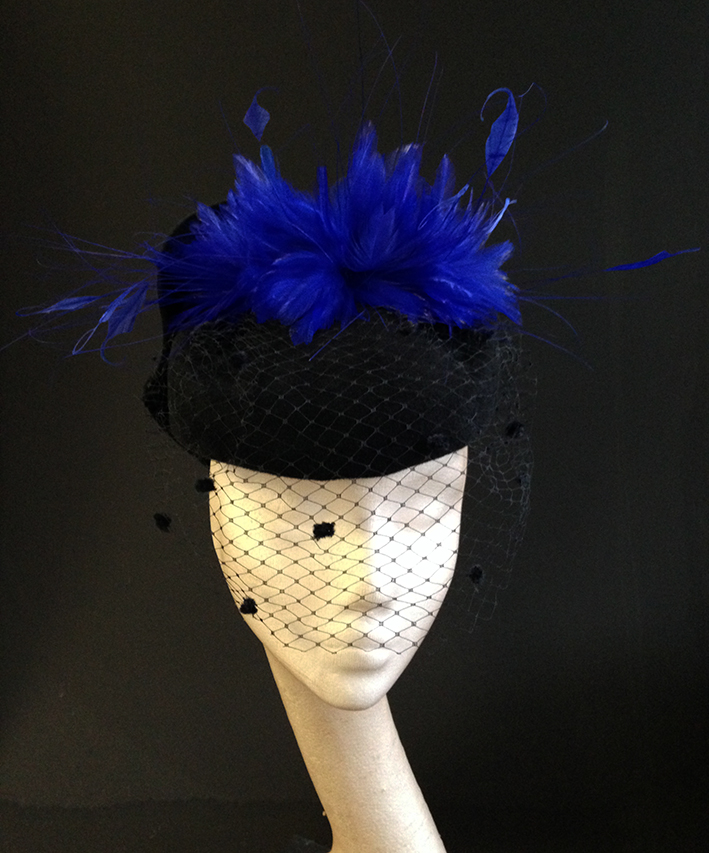 Black Felt & Blue Hat
