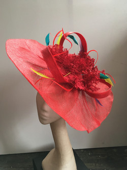 Red Lace Headpiece