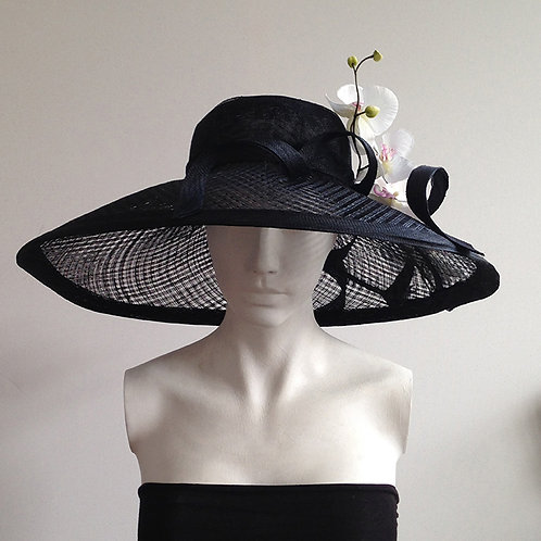 Belle - Large Black Wide Brimmed Hat