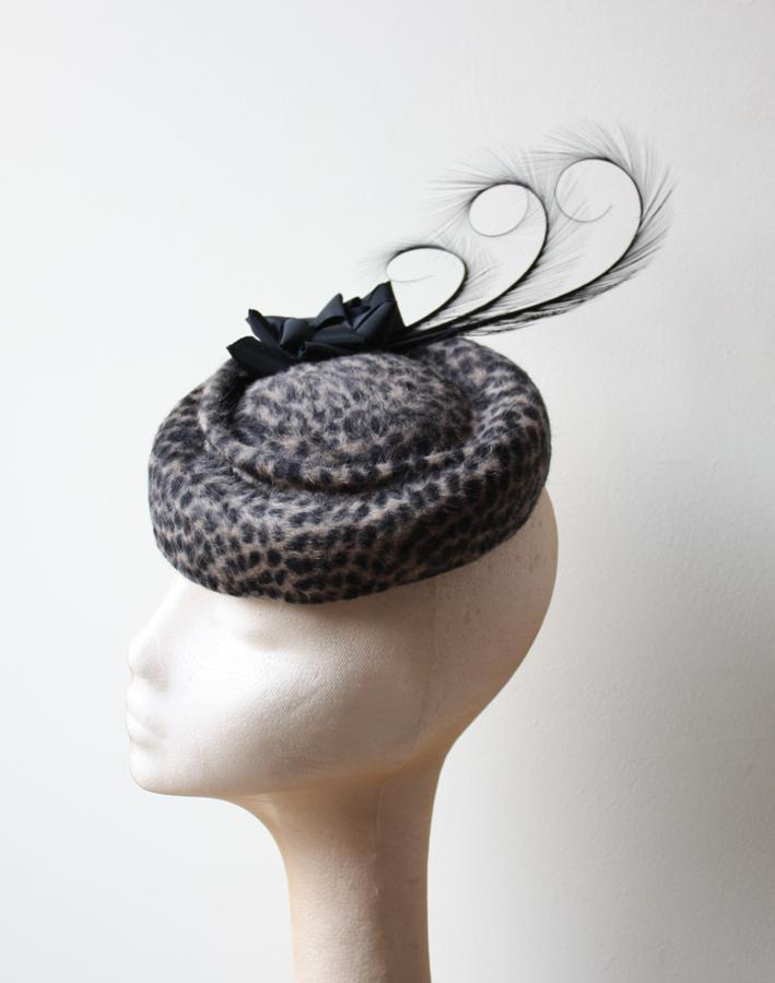 Leopard Print Felt Hat
