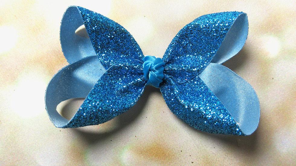 Small Glitter Bow - Under the Sea