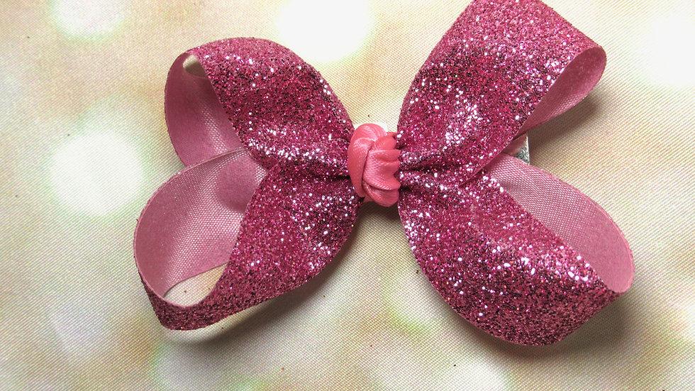 Small Glitter Bow - Heart Throb