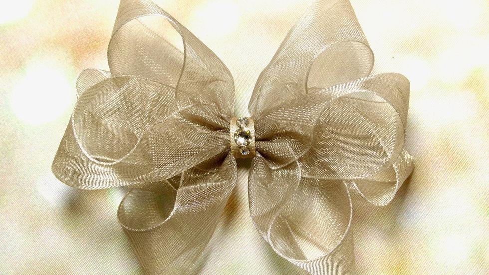 Sheer Piggytail Bow - Elegant Girl