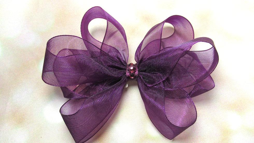 Sheer Piggytail Bow - Pretty in Purple