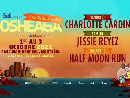 Horario del evento musical  Las Reuniones de Osheaga