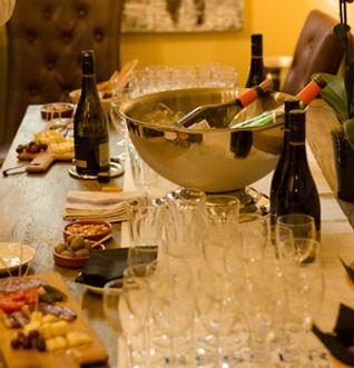 Wine bar and merchant menu