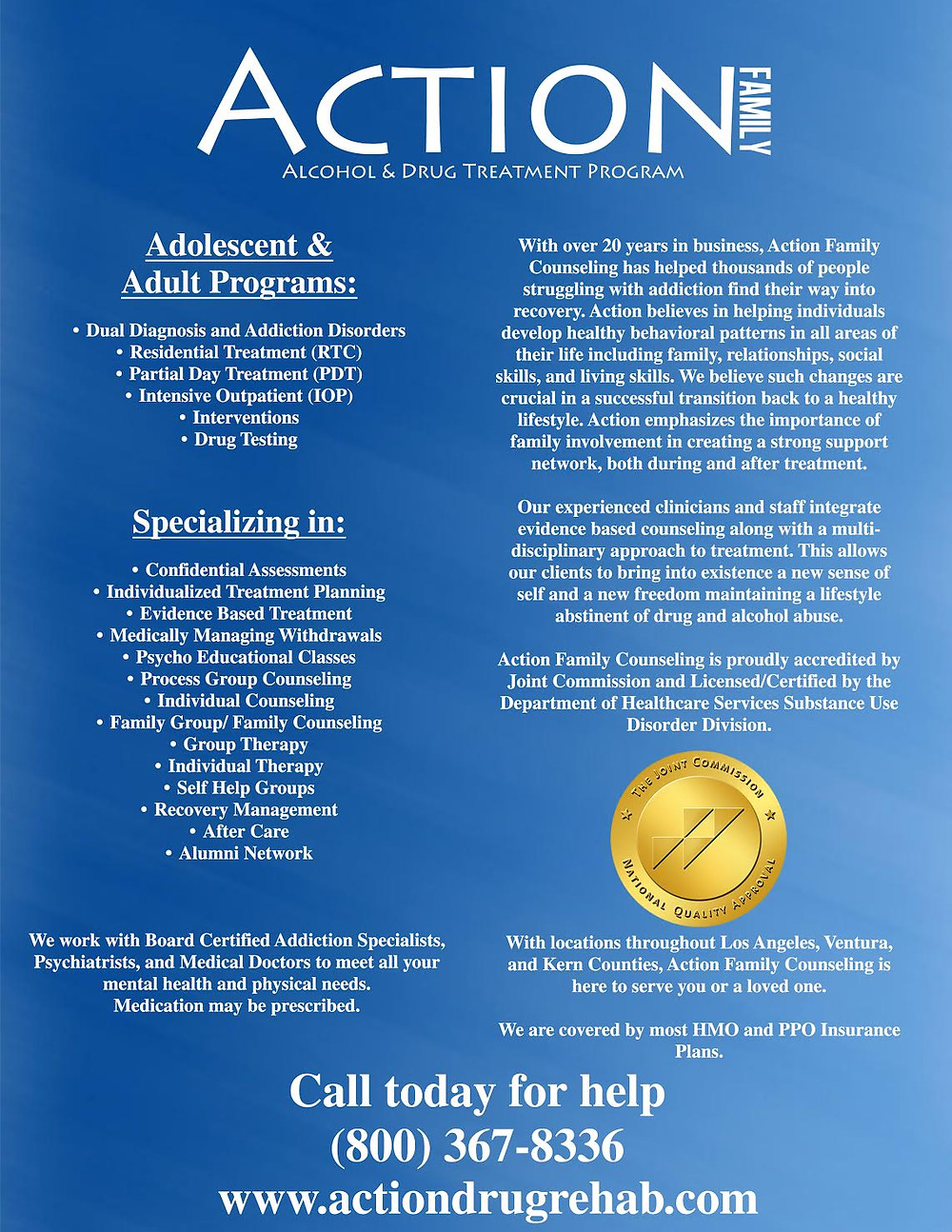 Action Drug Rehabilitation Centers Flyer