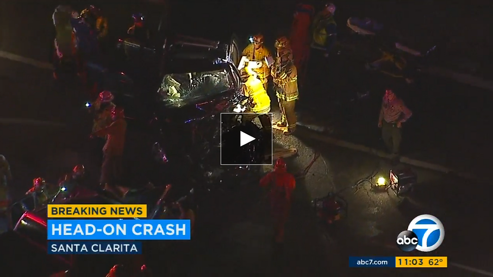 Violent DUI Santa Clarita Video ABC7