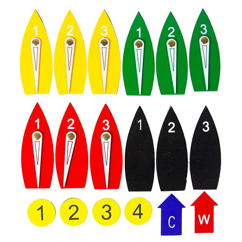 MAGNETIC PROTEST BOAT KIT - FULL SET - 18 PIECES