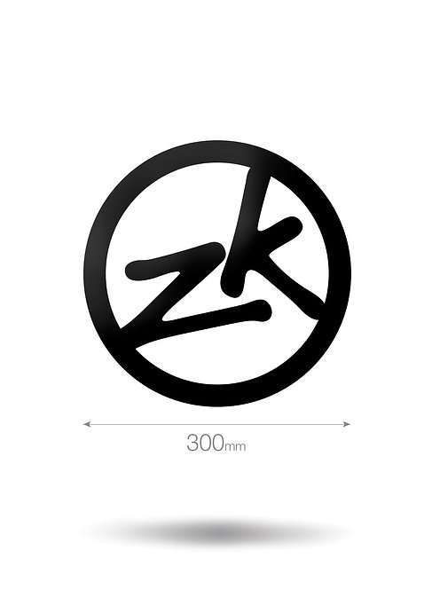 300MM CIRCLE ZK VINYL STICKER