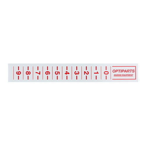 OPTIMIST TRIM STRIP RED OPTIPARTS - 20 PIECES