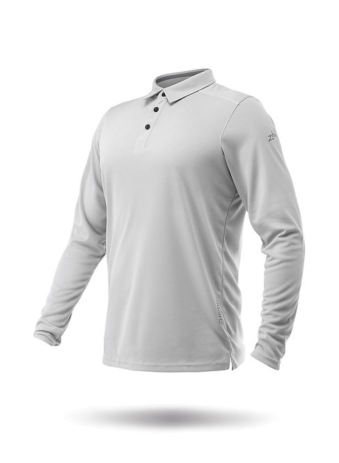 MENS LONG SLEEVE ZHIKDRY LT POLO