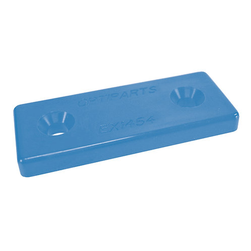 NYLON MOUNTING PLATE BLUE OPTIPARTS - SET OF 10 PIECES