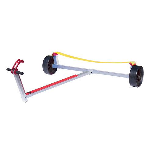 OPTIMIST TROLLEY WITH BELT AND SOLID RUBBER WHEELS