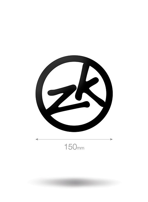 150MM CIRCLE ZK VINYL STICKER