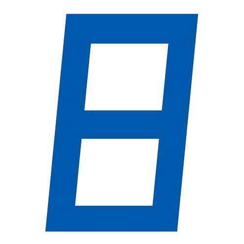 BLUE DIGITAL SAIL NUMBERS 23.5CM