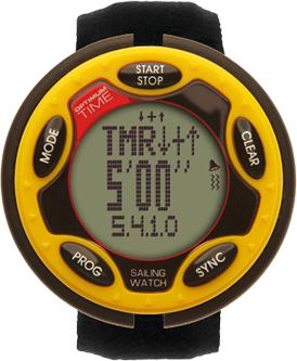 1455R YELLOW 1/3 ROW, VIBRATE RECHARGE SAIL WATCH
