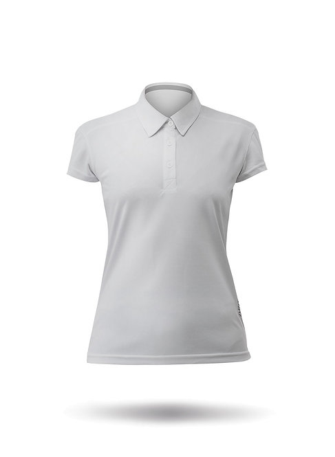 WOMENS SHORT SLEEVE ZHIKDRY LT POLO - ASH