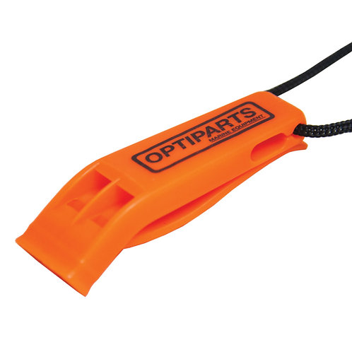 PEA-LESS PLASTIC WHISTLE WITH LANYARD OPTIPARTS