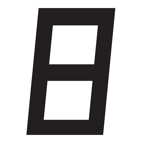 BLACK DIGITAL SAIL NUMBERS 23.5CM
