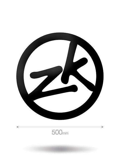 500MM CIRCLE ZK VINYL STICKER