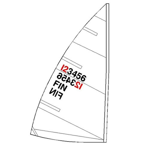 ILCA 4 SAIL NUMBERS AND COUNTRY CODES - SET