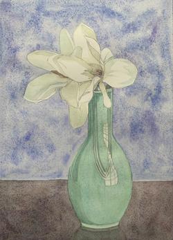 花瓶のモクレン