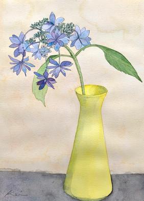 花瓶の紫陽花