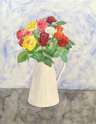 花瓶の薔薇