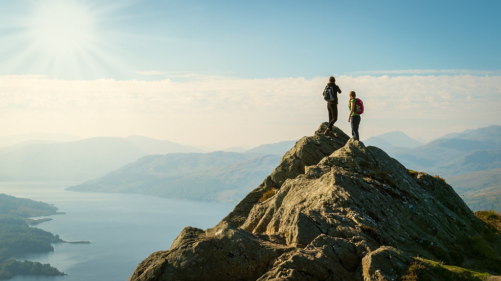 Man and Woman in Mountain