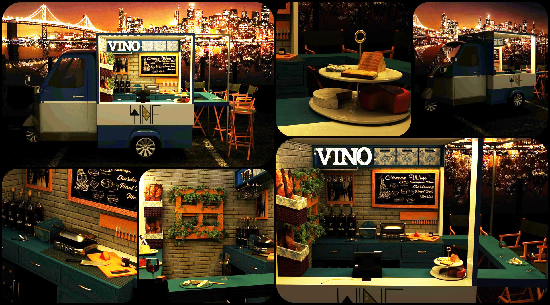 Cheese + Wine Piaggio Truck