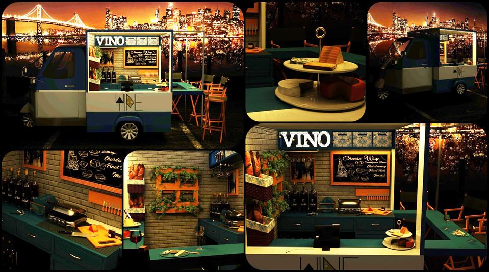 Cheese + Wine Piaggio Truck