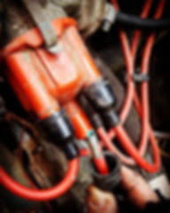 corroded HT wire from a distributor cap
