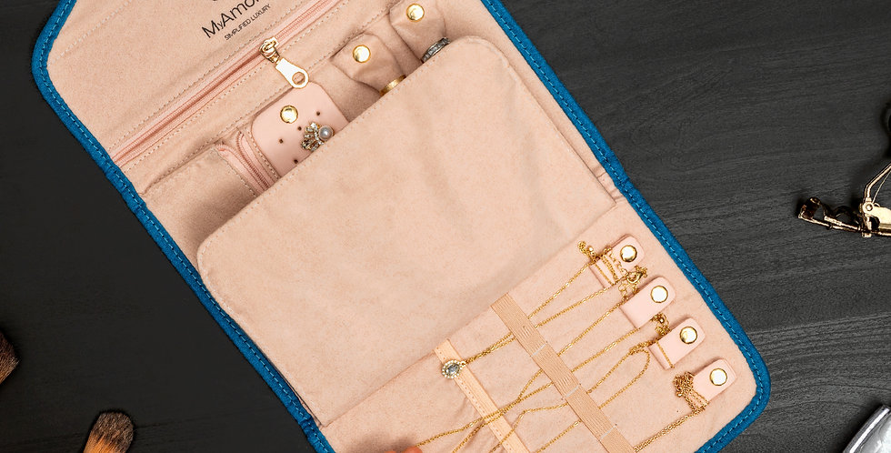 Soft Blue Jewelry Case
