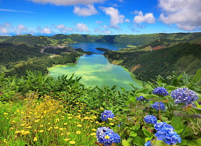 bigstock-Sete Citades lake Azores-198890