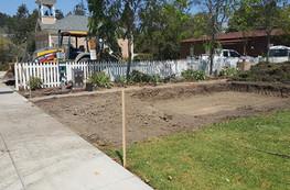 Building pad excavated