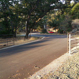 Gated entrance to trailhead