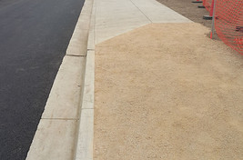 New gravel pedestrian pathway for the employees of Apio