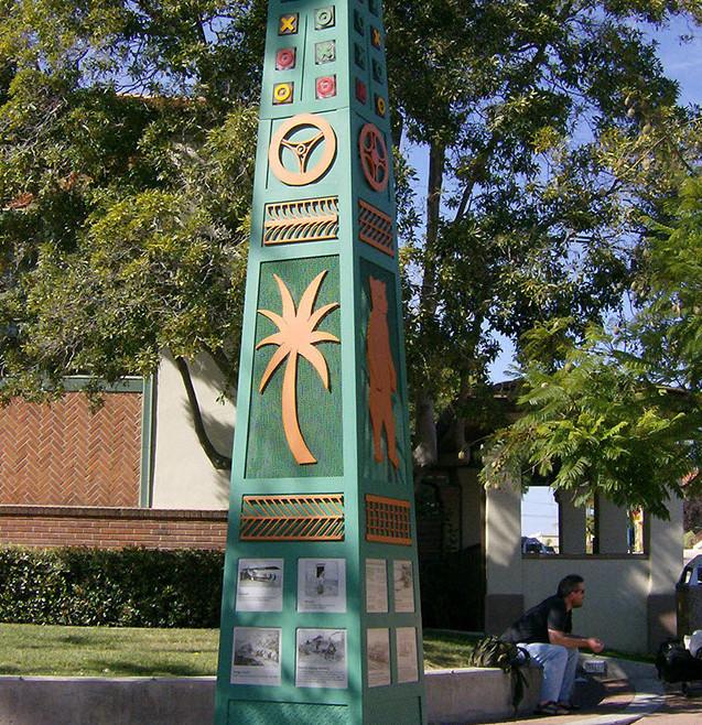 Obelisk in front of City Hall in San Luis Obispo