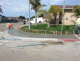 Finishing concrete ramp