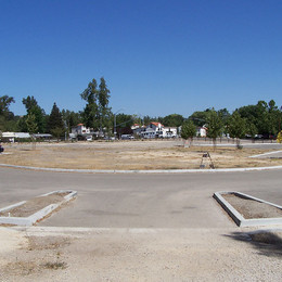 View from Lake Park toward the Portola and Highway 41 intersection