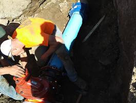 Installing new water valve