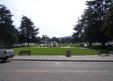View from City Hall towards El Camino Real
