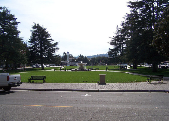 View from City Hall towards El Camino Real